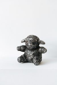 Little Bo Peepshow. Fine art sculpture by Andrew Miguel Fuller - Fabricated steel artwork by Andy Fuller - welded steel