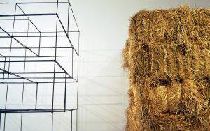 Rapture in West Texas. Fine art sculpture, video. Mixed media installation at Mercury Twenty Gallery in Oakland, CA. Installation by Andrew Miguel Fuller, Ross Warren, & Galen Jackson, working as the Strawman Collective.