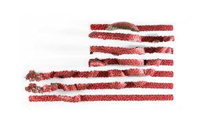 Red Bands American Flag Andrew Miguel Fuller Andy Fuller AM art bottlecap artwork wall mounted sculpture