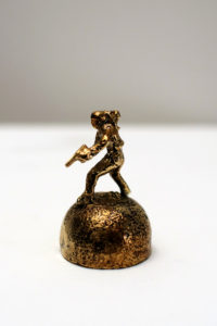 Bronze artwork by Andrew Miguel Fuller. Absurd cowboy sculpture by AM Andy Fuller