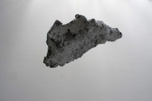 Cumulonimbus. A cloud study by Andrew Miguel Fuller. Concrete, pulverized marble, and steel sculpture by Andy AM Fuller