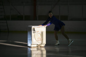 Ice on Ice: an ice capade in sixty acts. A performance art ice capade by Andrew Miguel AM Fuller in collaboration with the Strawman Collection (photo by Daniela Rossell).