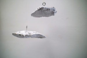 Cumulus. A cloud study by Andrew Miguel Fuller. Concrete, pulverized marble, and steel sculpture by Andy AM Fuller